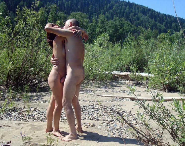 Nudist hug